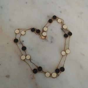 KATE SPADE - gold tone enamel station necklace